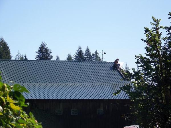 Last piece of roofing