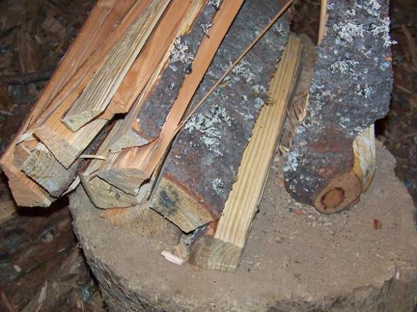 kindling, kitchen wood, ?