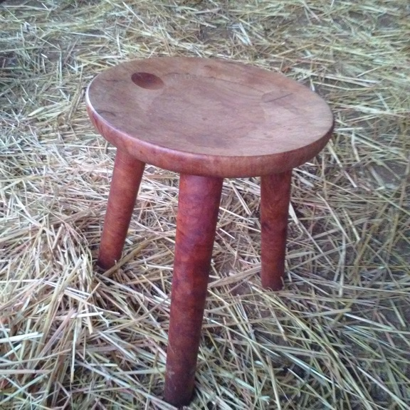 handmade maple milking stool